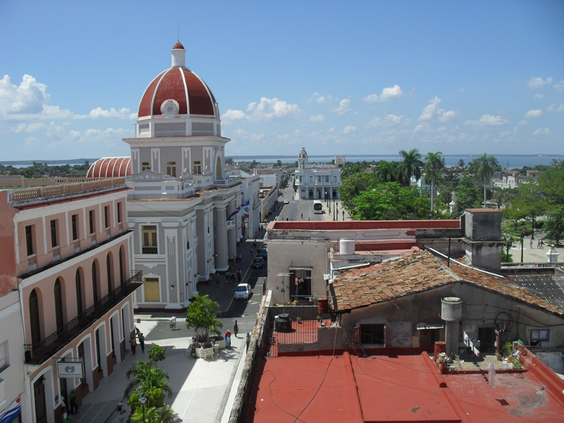 A view from Hotel La Union in Cienfuegos Cuba