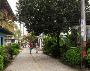 car-free street in capurgana
