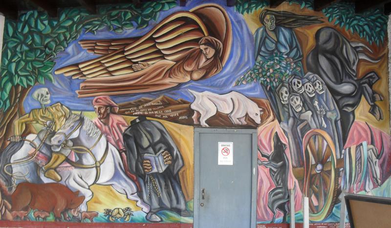 Mural showing Nicaraguan Legends