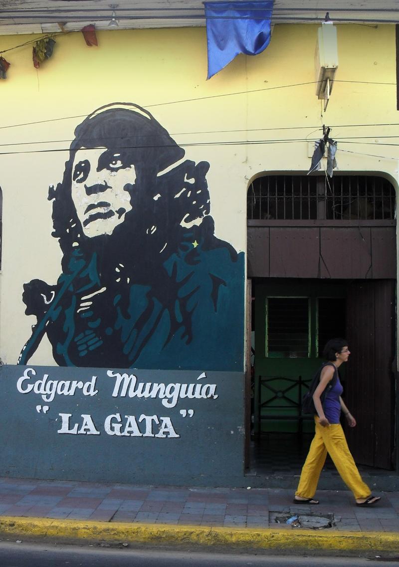 Mural of Nicaraguan La Gata