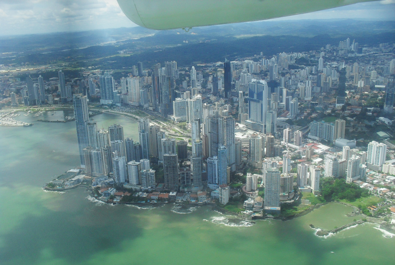 Panama city seen from above