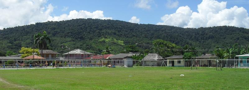 Puerto Obaldia village in Panama