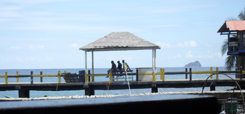 Men relaxing on the Pier