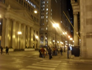 Occupy Chicago at night