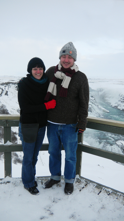Cold people at Gullfoss