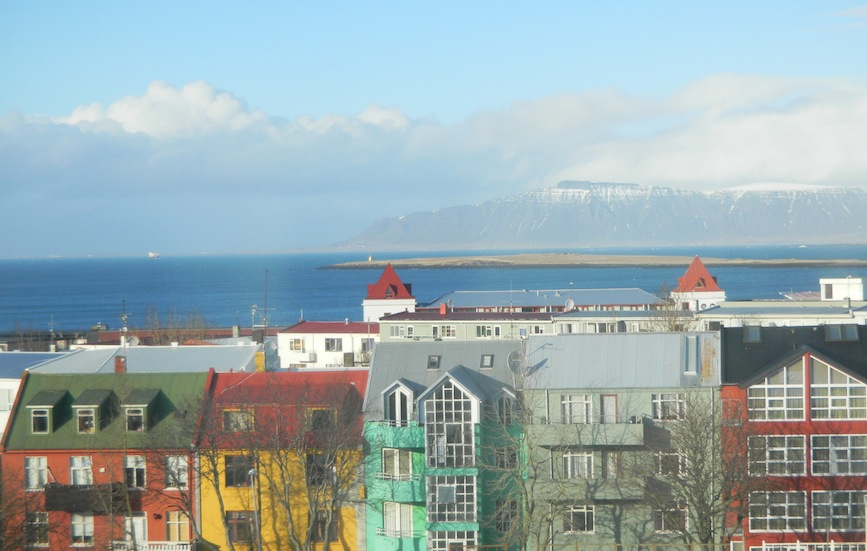 View of Reykjavík bay and maountain